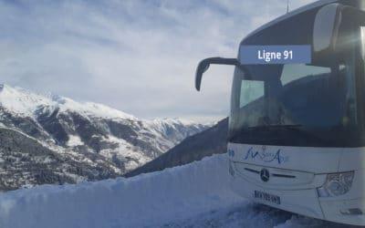 Horaires de bus – Ligne 91 à partir du 4 janvier